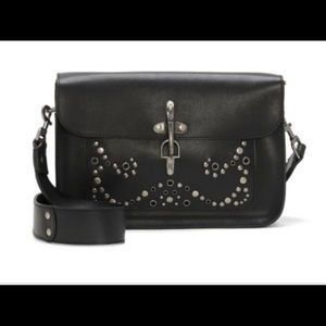 LUCKY BRAND Black Maya Studded Leather Bag
